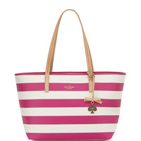 hawthorne lane ryan striped tote bag, sweetheart pink/cream - kate spade new york