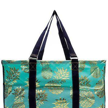 Utility Tote Large - Pineapple Print - 2 Color Choices