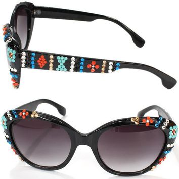 SUZETTE SWAROVSKI CRYSTAL SUNGLASSES