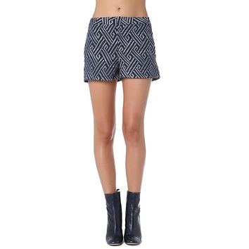 Navy Blue Geo Printed Shorts - Q2 Store
