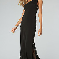One Shoulder Evening Gown by JVN by Jovani
