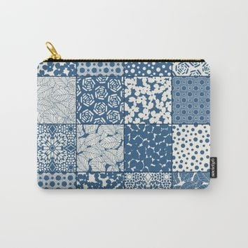 Tile Patchwork Carry-All Pouch by Eileen Paulino