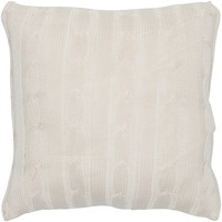 "Sweater Fabric Cream Pillow Cover (18"" x 18"")"