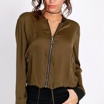The Bomb-er Diggity Jacket Olive