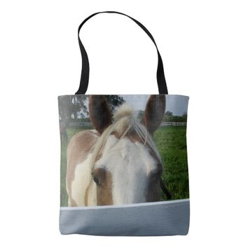 Palomino Horse Playing Peek a Boo Tote Bag