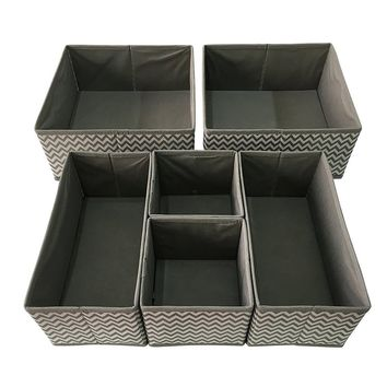 Sodynee Foldable Cloth Storage Box Closet Dresser Drawer Organizer Cube Basket Bins Containers Divider with Drawers for Underwea