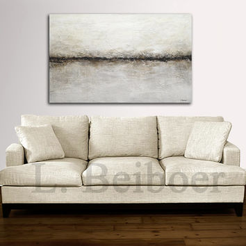 Large original abstract art painting textured contemporary oil painting 30 x 48 artwork palette knife modern painting by L.Beiboer