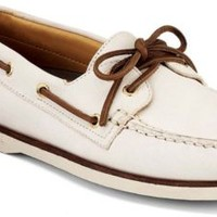 Sperry Top-Sider Gold Cup Authentic Original 2-Eye Boat Shoe IvoryLeather, Size 9M  Men's Shoes