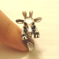 Adjustable Giraffe Ring - Vintage Style