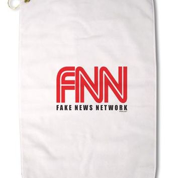 "Fake News Network Funny Premium Cotton Golf Towel - 16"" x 25 by TooLoud"