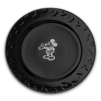 Gourmet Mickey Mouse Dinner Plate Set - Black/White