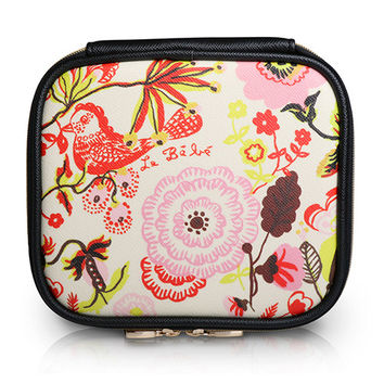 Square Cosmetic Pouch Nathalie Lete - Garden Beige