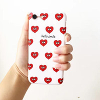 Love and smile face phone case for iPhone 7 7plus 6 6S 6plus 6Splus 1107JM01