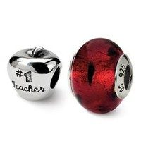 Sterling Silver Teacher Boxed Bead Set