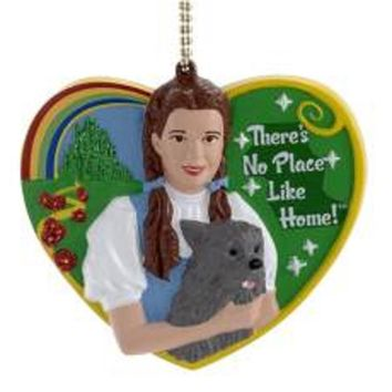 "3"" Wizard of Oz Dorothy and Toto ""There's No Place Like Home"" Clip-On Christmas Ornament"