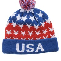 Blue USA Beanie | Tipsy Elves