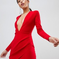 Bec & Bridge Long Sleeve Bodycon Mini Dress at asos.com