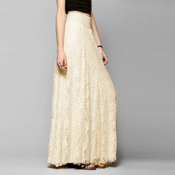 Zanzea New 2016 Fashion Womens Lace Skirt Spring Double Layer Elastic Waist Beige White Elegant Ladies Maxi Long Skirts saias