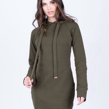 Hoodie Sweater Dress