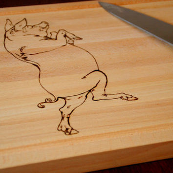 PIG Engraved Wood Cutting Board