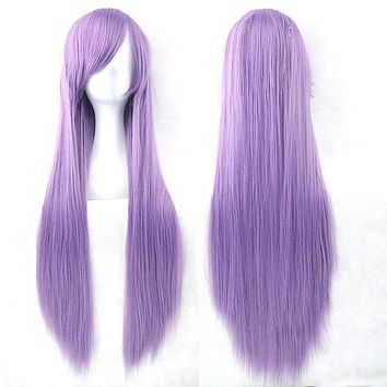 24 Color Long Layered 32 Inch Synthetic Wig