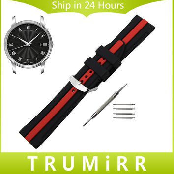 Silicone Rubber Watchband +Tool for Mido Baroncelli Multifort Men Women Watch Band Wrist Strap Bracelet 19mm 20mm 21mm 22mm 23mm