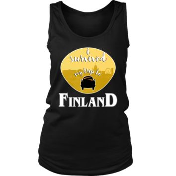 I Survived My Trip to Finland Skyline Vacation Women's Tank
