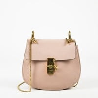 "Chloe Pink Leather Chain strap Small ""Drew"" Flap Bag"