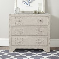 Safavieh Gordy Grey 3 Drawer Chest | Overstock.com Shopping - The Best Deals on Dressers