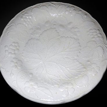 Stafforshire Cuthbertson Davenport Plates Burleigh White Strawberry Grape SET