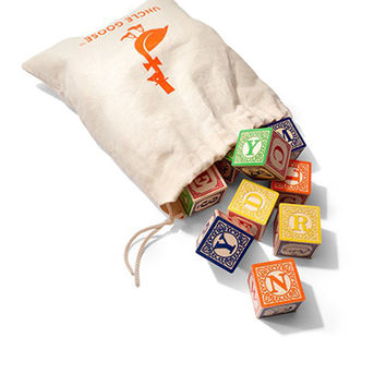 Classic ABC Blocks w/ Canvas Bag