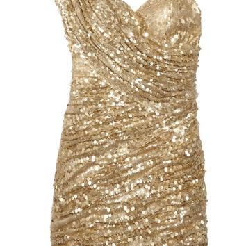 Opulence England Sequined one-shoulder mini dress – 40% at THE OUTNET.COM