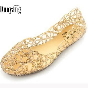 Women sandals fashion flat sandals shoes woman summer shoes jelly shoes