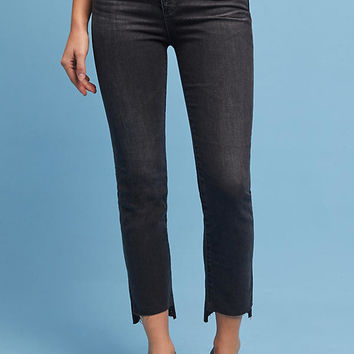AG The Isabelle Button-Up High-Rise Cropped Jeans