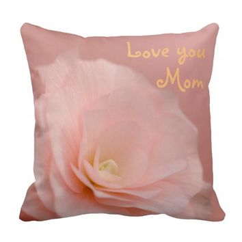 Pink Rose Floral Stone Throw Pillow