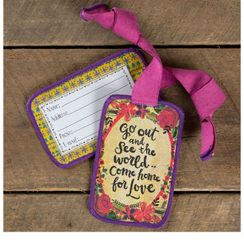 Natural Life Luggage Tag - Go Out