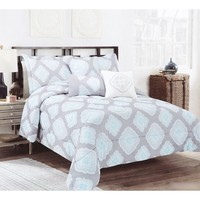 Madison Damask 6-Piece Queen Bedding Set 610854165