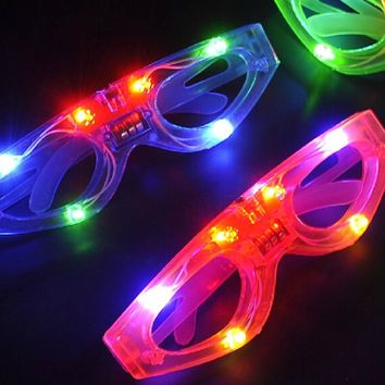 LED Blind Eye Mask Glasses Light Up Flashing Wedding Favors Gifts Party Supplies Adult Child Glow HalloweenP2
