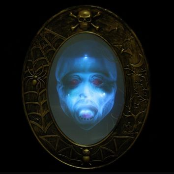 Halloween Party Decorative Props Supplies Audible Mirror Decoration Masquerade Bar Horror Luminous Sound Mirror