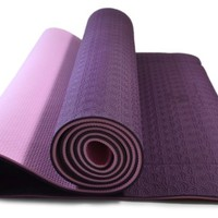 Yoga Mat - Eco Friendly, Nonslip for Hot Yoga; Travels Easily in Your Yoga Bag; Comes with Yoga Mat Strap Carrier; Best, Thick, Organic Mat for Exercise, Pilates and Yoga; Moneyback Guarantee