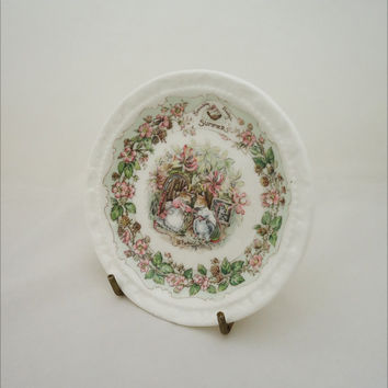 Vintage Royal Doulton China, Brambly Hedge Small Plate, Brambly Hedge Summer Plate, Collectable Royal Doulton