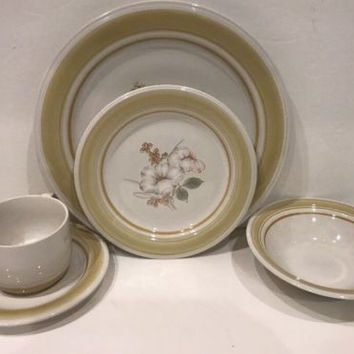 Impressions by Daniele Country Day Floral Stoneware 5 Pc. Place Setting Japan