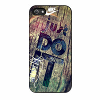 Nike Just Do It Wood iPhone 5 Case