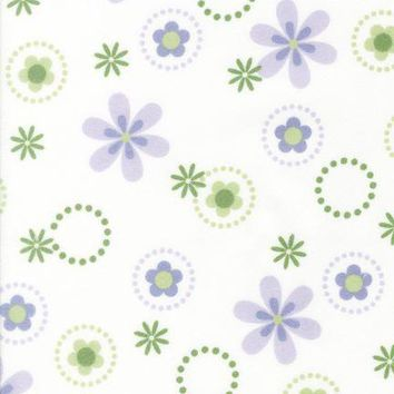 Lavender Bouquet Flannel Fabric by the Yard | 100% Cotton