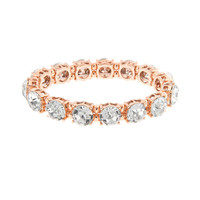 Rose Gold and Round Crystals Stretch Bracelet