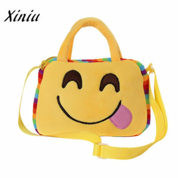 Xiniu Women Bags Cute Emoji Emoticon School Child Bag Satchel Handbag Cute Bag Children Kids Girls Shoulder Bag
