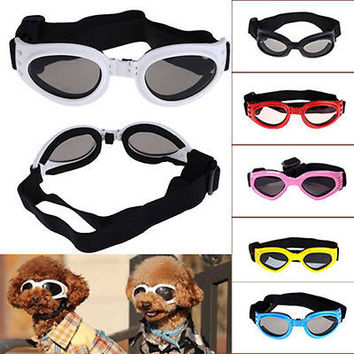Fashion Pet Dog Doggles Goggles Sunglasses Eye Wear Protection Multi Color AU3C