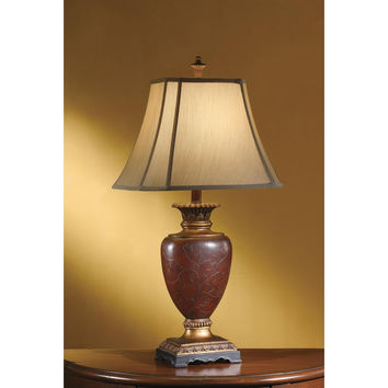 Crestview Collection  Burnt Wood Buffet Lamp, All Other Colors, Resin