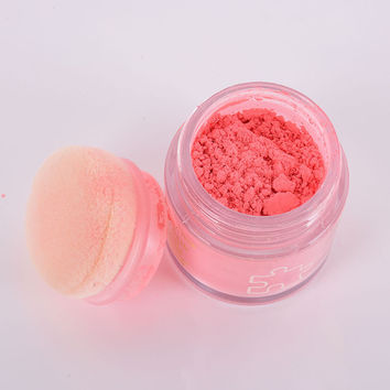 Lady Beauty Makeup Cosmetic Blush Blusher Loose Powder Foundation Cheek Makeup