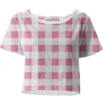 PETAL PINK GINGHAM Crop Top